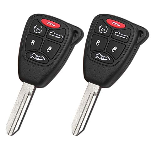 (FCC OHT692427AA) for Chrysler Sebring Convertible 200 Convertible 4 Buttons 315MHZ Remote Key fob with ID46/7941A Chip from WAKFLMS (Pack of 2)