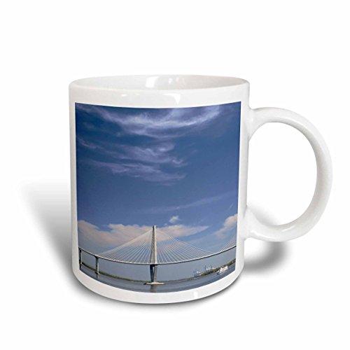 Arthur Ravenel Bridge (3dRose mug_94246_2 Arthur Ravenel Jr. Bridge, Charleston, South Carolina US41 AJE0103 Adam Jones Ceramic Mug, 15 oz, White)