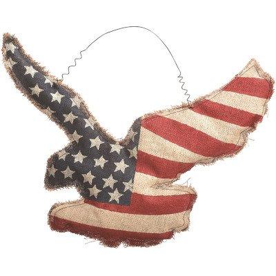 Amazon Com Transpac Imports Inc Americana Burlap Eagle