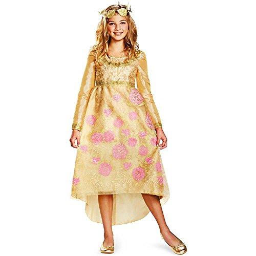 Aurora Coronation Girls Princess Costumes (Aurora Coronation Gown Deluxe Child Costume - Medium)