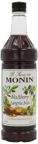 Monin Flavored Syrup, Blackberry Sangria, 33.8-Ounce Plastic Bottles (Pack of 4) ()