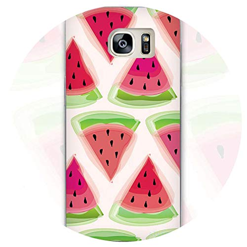Watermelon Watercolor Summer Clear Phone Case Cover for Samsung Galaxy Note 2 3 4 5 7 S3 S4 S5 Mini S6 S7 S8 Edge Plus,Style 02,for Samsung S8 Plus