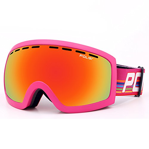 SE7VEN Masques De Ski Anti Brouillard,Double Couche Anti Brouillard Lumière Polarisée Panoramique Masques De Snowboard Goggles I