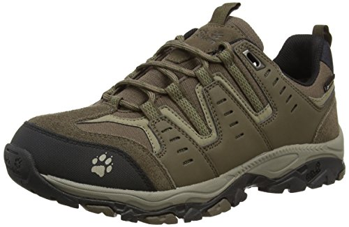 Jack Wolfskin MTN STORM TEXAPORE LOW M, Herren Trekking- & Wanderhalbschuhe, Beige (burnt olive 5033), 43 EU (9 Herren UK)
