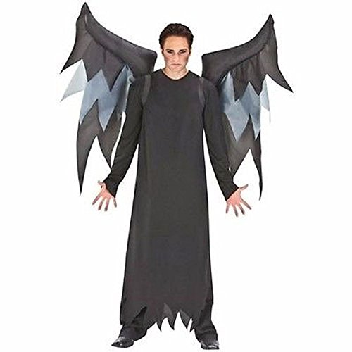 Inflatable Black Demon Wings Halloween Costume, w/ Belt Clip, Adult One Size ...