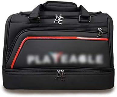 多目的ゴルフの服バッグ大容量メンズトラベルダッフルバッグポータブルハンドル設計簡単に PU素材大容量ブラックを運ぶために HMMSP