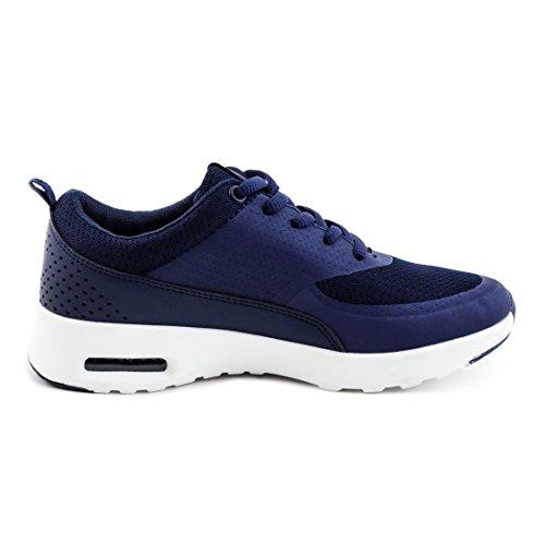 Sport Unisex Trendige Sneaker Fitness Turnschuhe Navy Damen Schnür Laufschuhe nFHFXqS
