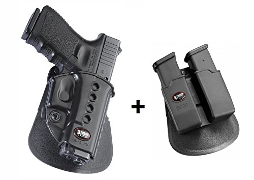 Fobus Conceal Concealed Carry New Design LEFT HAND Holster + 6900 Double Magazine Pouch for Glock 17 19 22 23 31 32 34 35 41 / Walther PK-380 / Kahr CW40, CM40, P40, PM40, P45