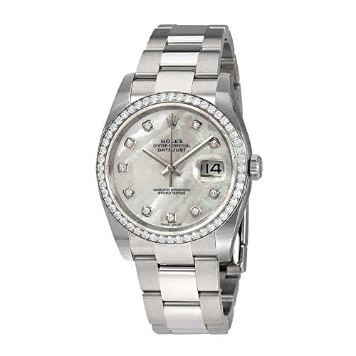 - Rolex Oyster Perpetual Datejust 36 Mother of Pearl Dial Stainless Steel Bracelet Automatic Ladies Watch 116244MDO