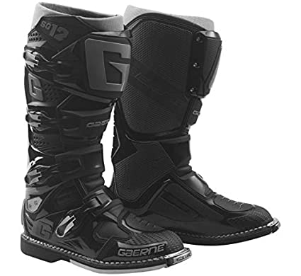 ade6bbfcc02 Amazon.com: New 2019 Gaerne SG-12 Men's Motocross Boots (Black) (11 ...