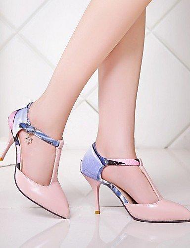 GGX/ Damenschuhe-High Heels-Büro / Kleid / Lässig-Kunstleder-Stöckelabsatz-Absätze-Blau / Rosa / Weiß / Beige blue-us6.5-7 / eu37 / uk4.5-5 / cn37
