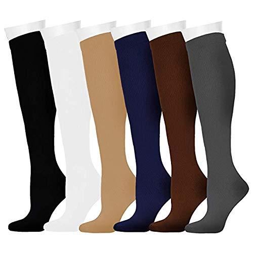 Compression Socks for Women and Men for Running, Athletic Sports, Flight Travel, Nurses, Maternity Pregnancy, Shin Splints, Edema, Varicose Veins (Assorted 1, S/M)
