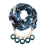 Clearance Kumike Fashion Cotton Tassel Scarves Ethnic Necklace Jewelry Acrylic Pendant Women Turban