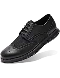 100% Genuine Cow Leather Brogue Shoes Mens Casual Flats Shoes Vintage Handmade Sneaker Oxford Shoes For Men Spring Black Red Shoes