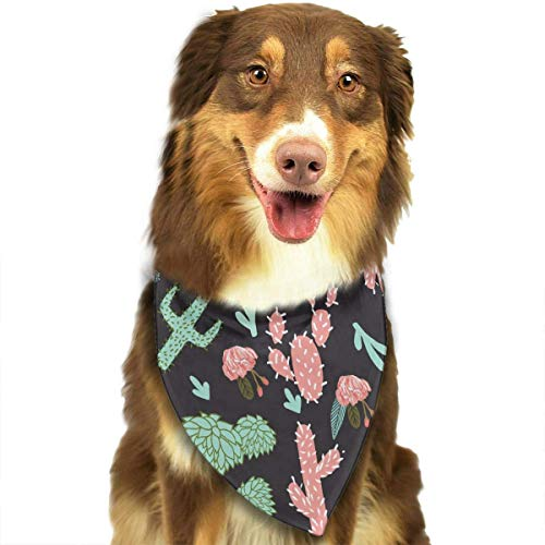 Pet Dog Bandana Scarf Pack Triangle Bibs Southwest Flower Cactus Printing Kerchief Set Accessories for Small to Large Dogs Cats Pets ()