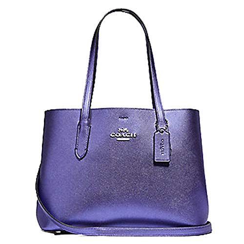 (Coach Avenue Carryall Metallic Periwinkle/Light Purple)