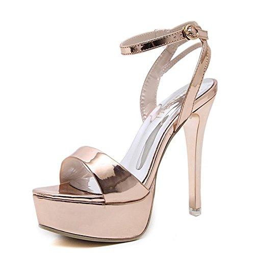 heel Fino Champagne Color Rocío Hxvu56546 Nuevo Sandalias Alto toe 12cm El Sexy Verano Shoes Y 4T6T8Ox