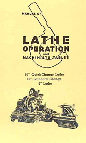 Atlas Craftsman Manual of Lathe Operation Book for 10