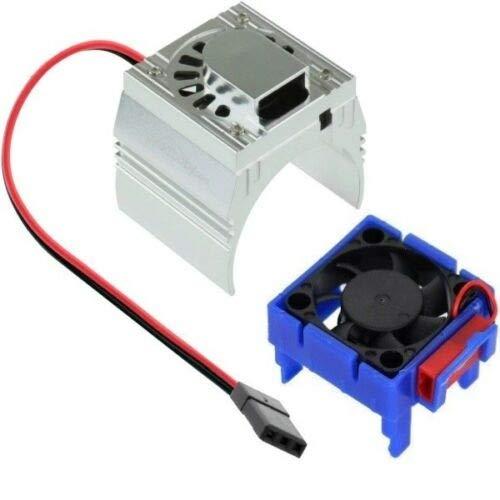 Powerhobby Cooling Fan for Traxxas Velineon VXl-3 ESC + 540/550 Heatsink Motor Fan Combo Blue FITS : Traxxas Slash/Stampede 2WD / RUSTLER/Bandit / Rally VXL