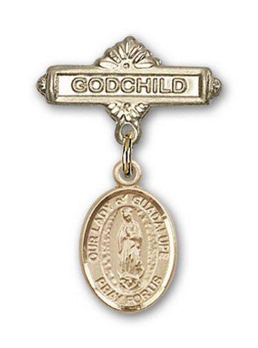 Icecarats Or Bijoux De Créateurs Rempli O / L De Charme De Guadalupe Broches Badge Filleul 1 X 5/8