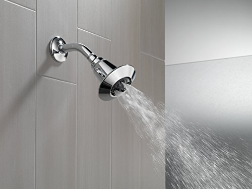 """Delta 75152 3-7/8"""" Single-Function Shower Head with H2Okinetic Technology, Chrome"""