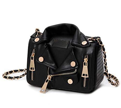 Eterna Fashion European Hot Brand Designer Motorcycle Bags Shoulder Jacket Bags Messenger Bag (Black)