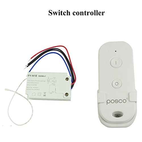 Wireless Remote Switch Control 110V for Fluorescent Lamp, halogen Lamp, Incandescent Lamp,LED Pool Light by Generic