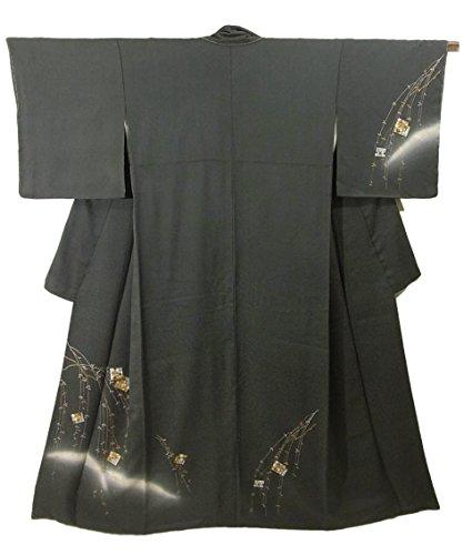気まぐれなクーポン八リサイクル 着物 訪問着 正絹 袷 シダレヤナギの源氏香 裄65.5cm 身丈164cm