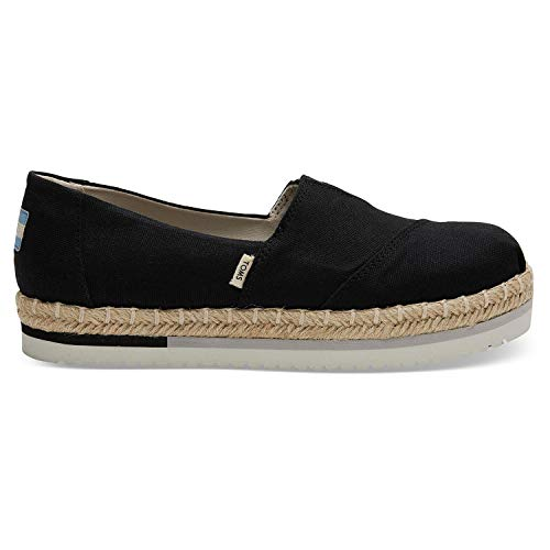 TOMS Black Canvas Platform Women