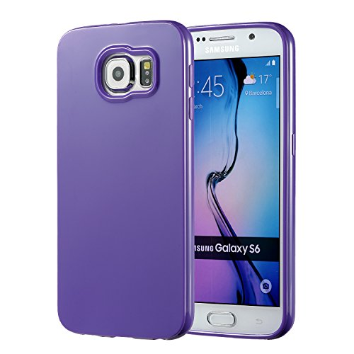 Galaxy S6 Purple Case, technext020 Galaxy S6 Case Silicone Protective Back Cover Slim Fit Samsung Galaxy S6 Bumper