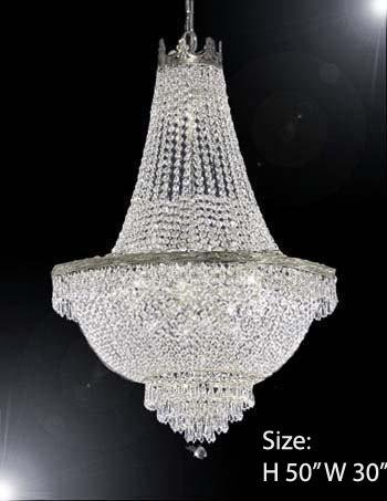 French Empire Crystal Chandelier Lighting - Great for the Dining Room, Foyer, Living Room! H50