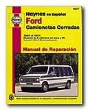 camionetas ford - Haynes Ford Camionetas Cerradas (69 - 91) Spanish Repair Manual (99077)