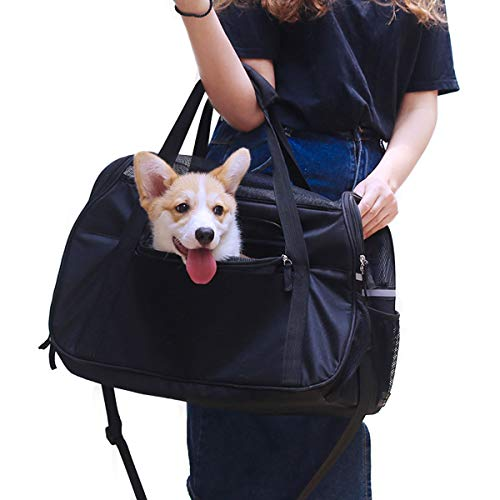 Pet Carrier Dog Airline Approved Soft-Sided Portable Travel Bag for Small Dogs Cats Puppies Kittens Rabbits