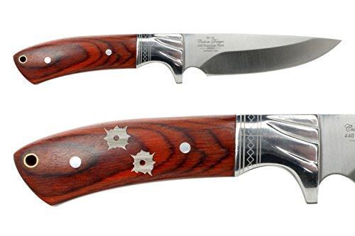 NDZ Performance Elkridge 4.5 Straight Back Fixed Blade Knife Full-Tang Bolster Bullet Holes