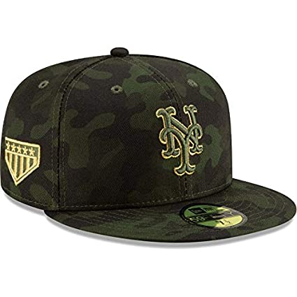 a81baf0edd5c0a New Era New York Mets 2019 MLB Armed Forces Day On-Field 59FIFTY Fitted Hat