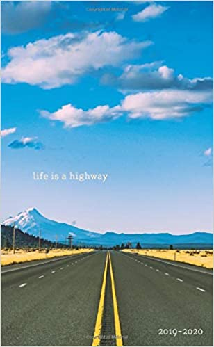 Life Is A Highway 2019 2020 Monthly Pocket Planner Oregon Usa
