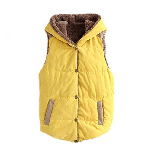 紳士キャリアゴールド春秋フード付ノースリーブベスト_yellow_XL(着丈57cm、胸94cm、肩幅32cm)