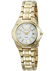 Seiko Womens SXDB48 Gold-Tone Dress Watch