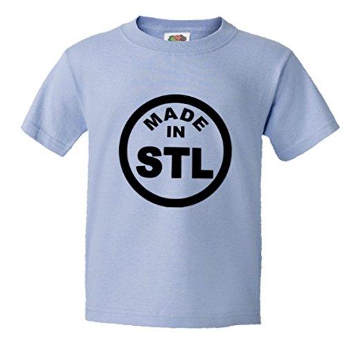 Youth Born Made in ST Louis MO Missouri Logo Label HQ Tee-LtBlu-L