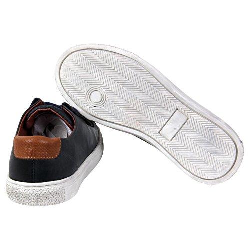 PANTOFOLA D ORO Kinder Jungen Leder Sneaker Navy 74 Größe 31
