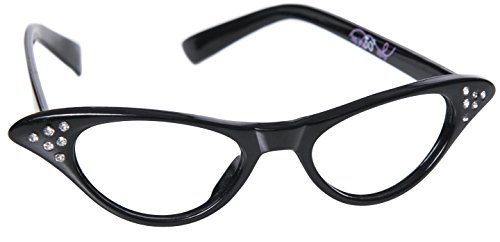 [Hip Hop 50s Shop Kids Cateye Glasses (Baby/Toddler, Black)] (Toddler Cat Costume Ideas)