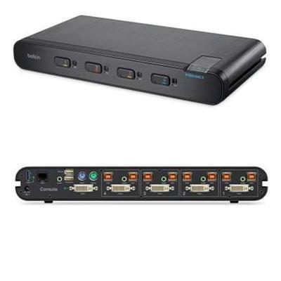 Linksys F1DN104C-3 Secure DVI I SH KVM Switch 4Pt