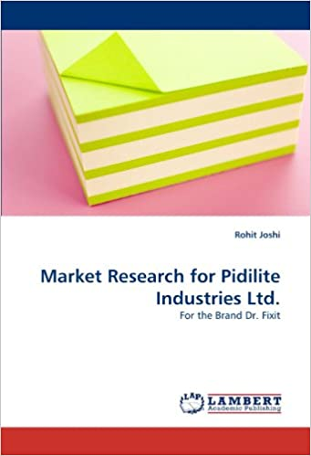 Market Research For Pidilite Industries Ltd For The Brand Dr Fixit Joshi Rohit 9783843381208 Amazon Com Books