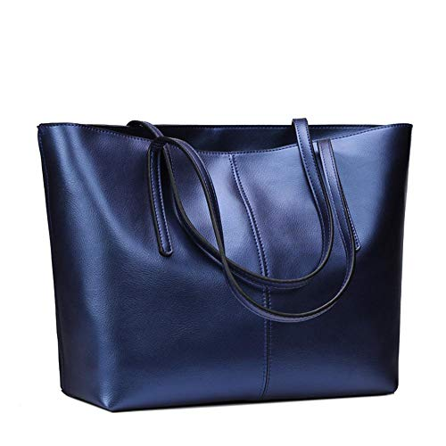 Main Sac Mode Cabas épaule de à Unique dark Mode Sac Femme pour Sacs Main Dames WWAVE blue centaines à Cuir Dame élégante SPgwEnq7x