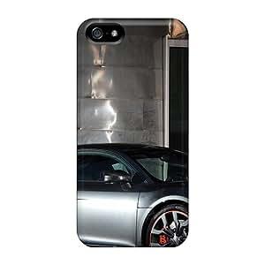 New Audi R8 In Carbon Fiber Tpu Case Cover, Anti-scratch ShaCke Phone Case For Iphone 5/5s