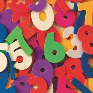 S&S Worldwide Color Splash! Foam Shapes with Adhesive - Numbers (pack of 640)]()