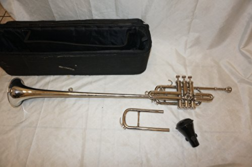 Herald trumpet with case and mouthpiece