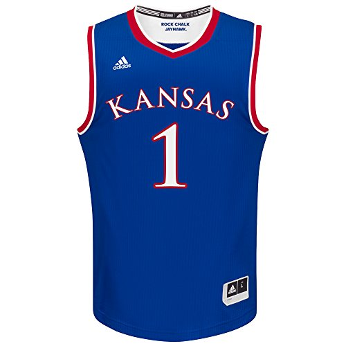 NCAA Kansas Jayhawks Adult Men Replica Basketball Jersey XX-Large,Blue