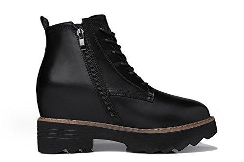 Youxuan Women's Winter Walking Short Booties Slip Resistant Girls Platform Flats Snow Boots Black 5.5M US by Youxuan (Image #2)