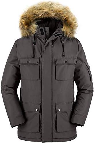 Wantdo Men's Puffer Jacket Thicken Winter Coat Parka Coat with Fur Hooded